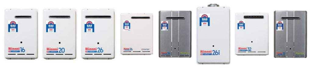 rinnai continuous flow hot water systems